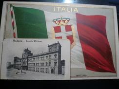 Modena Bandiera Anno 1911 Colonialismo Italiano Usata 1910 - Modena