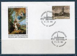 Italia 2012 -- Giubileo Dei Chierici Regolari Somaschi  Annullo Torino - Postwaardestukken