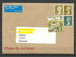 GREAT BRITAIN 2017 Cover To Estonia Stamps Cancelled By Hand - 1952-.... (Elizabeth II)