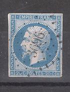 Empire N° 14 Obl Pc 3696 De XERTIGNY, Vosges, IND 7, Belle Frappe, TB - 1853-1860 Napoléon III