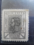 ROMANIA  1900  KING  CAROL I,  1 BAN BLACK  VALUE  1ban  With Gumm I - 1881-1918: Carol I.