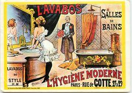 PAR CHOUBRAC CARTE HUMORISTIQUE POUR L'HYGIENE MODERNE - Advertising