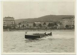 CANOT AUTOMOBILE ARDENRUM (?) PHOTO SPORT BARREAU PRATO CANNES  ANNÉES TRENTE     X62 - Boten