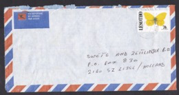 Lesotho: Airmail Cover To Netherlands, 1995, 1 Stamp, Butterfly (damaged: Roughly Opened) - Lesotho (1966-...)