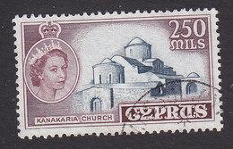 Cyprus, Scott #180, Used, Elizabeth And Kanakaria Church, Issued 1955 - Cyprus (...-1960)
