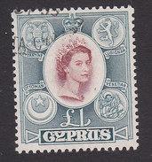 Cyprus, Scott #182, Used, Elizabeth, Issued 1955 - Chypre (...-1960)