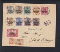 Dt. Reich Besetzung Litauen Lithuania R-Brief Wilna Nach Duss Lothringen - Besetzungen 1914-18
