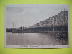 CPA  Siracusa - Passeggiata Foro Vittorio Emmanuele II - Botanik