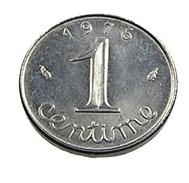 1 Centime - épi -  France - 1976 -   Acier -  Sup - - A. 1 Centime