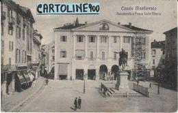 Piemonte-alessandria- Casale Monferrato Piazza Carlo Alberto Bella Differente Veduta Primi 900 - Italia