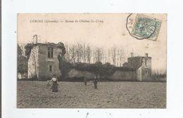 CERONS (GIRONDE) RUINES DU CHATEAU ST CRIQ 1906 (CYCLISTES) - Autres Communes