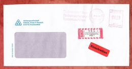 Einschreiben Reco, Frama A03-5351, Turbomaschinen, 420 Pfg, Frankenthal 1991 (38927) - Affrancature Meccaniche Rosse (EMA)