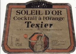 Étiquette  -  Cocktail à L'Orange SOLEIL D'OR - Texier - Labels