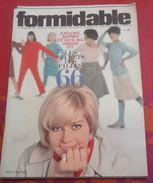 Formidable N° 2 Novembre 1965 Johnny Hallyday, Hervé Villard Et Ria Bartok, Les Filles 1966 - Musique