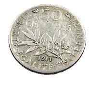 50 Centimes - Semeuse  - France - 1911 - Argent  -TB - - France
