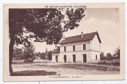 CPSM Casseneuil 47 Lot Et Garonne Illustrée La Gare éditeur éditeur APA Poux à Albi N°9 Non écrite - Autres Communes