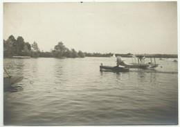 CANOT AUTOMOBILE AMILCAR DE MR DE CONINCK ET HYDRAVION  VILLENNES SUR SEINE        X78 - Barche