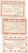 3 RECUS DE LA SOCIETE DU SOUS DES ECOLES LAIQUES DE LONS LE SAUNIER JURA. 1932/1935/1940 - Vieux Papiers
