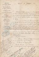 PARIS. 6 JUIN 1871. 2° BUREAU DU JURA. MINISTERE TRAVAUX PUBLICS. ALIGNEMENT DE LA DEPART. 4 DE LONS LE SAUNIER A GENEVE - Vieux Papiers