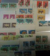 O) 1964 CUBA-CARIBE, IMPERFORATE,ZOO-BUFFALO,ELEPHANT-DEER-KANGAROO-LIONS-ELAND-ZEBRA-HIENA-TIGER-GUANACO-CHAMPANZEES-PE - Imperforates, Proofs & Errors