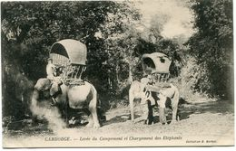 CAMBODGE CARTE POSTALE NON UTILISEE  THEME ELEPHANT - Éléphants