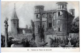 Gaillon (Eure)   Le Palais, D'après Une Gravure Ancienne - Unclassified