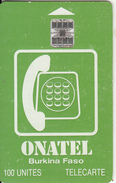 BURKINA FASO - Onatel Logo(green & White), Chip SC7, Red CN, Used - Burkina Faso