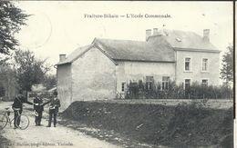 ++ CPA - FRAITURE - BIHAIN - L'Ecole Communale - Facteur   // - Tinlot