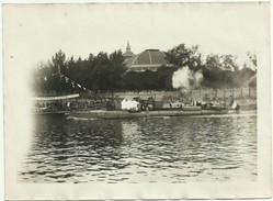 ANNÉES 1920 (1922 ?) FÊTES NAUTIQUES DE PARIS LE TORPILLEUR TIRANT DES COUPS DE CANONS AGENCE MEURISSE             Y73 - Boten
