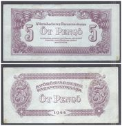 Hungary 5 Pengo 1944 (VF+) Condition Banknote P-M4 Russian - Hongrie