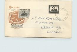 1954   Western Australia Stamp Centenary  Royal Cachet Addressed To Canada -G.P.O. Sydney Vancel - FDC