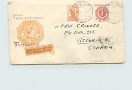 1953  Tasmanis Stamp Centenary - ½d. Kangaroo  Added - Southern Cross Printer Cachet - Melbourne C.I. Cancel - To - FDC