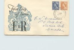1954  Elizabeth Definitives - Royal Generic  Cachet - To Canada - Concord Repat Hosp NSW Cancel - FDC