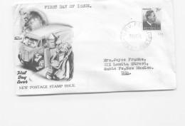 1951  George VI 7½d Definitive - Wide World Generic Cachet - To USA  - GPO Perth Cancel - FDC