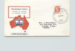 1965  Elizabeth II 5d. Definitive - Unknown Cachet - Rusell Street Cancel - To Canada - FDC