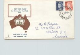1965  Elizabeth II 5dc Definitives SG 386c And 414 - Parade Cachet -to Canada - Leichhardt NSW Cancel - FDC