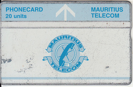 MAURITIUS(L&G) - Telecom Logo 20 Units(blue Band & Blue Line), CN : 502B, Tirage 25000, Used - Maurice