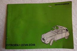 Mini Revue Technique Notice D'emplois Citroën 1972 Pour 2CV 4 & 6. - Voitures