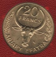MADAGASCAR 20 FRANCS 1970 FAO KM# 12 ANIMAL - Madagascar