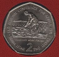 SIERRA LEONE 2 LEONES 1976 KM# 29 FAO REGIONAL CONFERENCE FOR AFRICA Heptagonale - Sierra Leone
