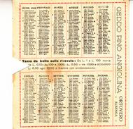 Calendarietto Pieghevole Del 1928-Pubblicità_Advertising_Geddo Pino Angiolina_ORTOVERO_Albenga-Tessuti_Filati_Mercerie- - Petit Format : 1921-40