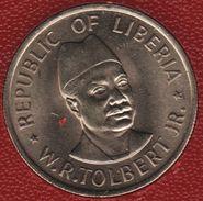 LIBERIA 25 CENT 1976 FAO KM# 30  W.R.TOLBERT JR. - Liberia