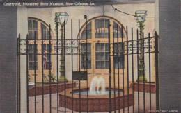 Louisiana New Orleans Courtyard Lousiana State Museum Curteich