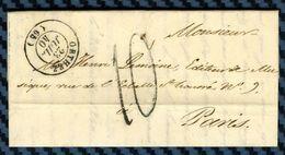 Basses Pyrénées - Orthez Pour Un Editeur De Musique à Paris. LAC De 1840 - Marcophilie (Lettres)
