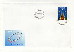 Enveloppe 1er Jour ALAND Oblitération MARIEHAMN 01/03/1995 - Aland
