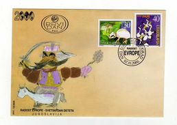 Enveloppe 1er Jour JUGOSLAVIJA YOUGOSLAVIE Oblitération BEOGRAD 02/10/2000 - FDC