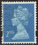 GB 1992 Yv. N°1672 - 2nd Bleu Offset (Q) - Oblitéré - Machin-Ausgaben