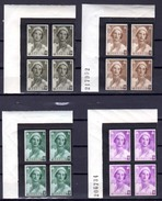 1935 Deuil Reine Astrid, 411 / 418**en # Avec Bord De Feuille, Cote 100 €, - Belgium
