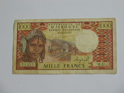 1000 Francs 1979-1988 - République De DJIBOUTI - Banque Nationale  **** EN ACHAT IMMEDIAT **** - Djibouti
