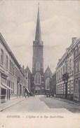 Izegem, Iseghem, L'Eglise Et La Rue Saint Hilon (pk36689) - Mouscron - Moeskroen